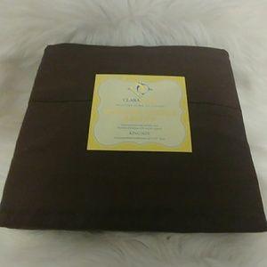Clara Clark 820 Coffee ☕ King Size Sheet Set